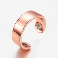 Glossy Rose Golden Color Open Ring Fashion Jewellery