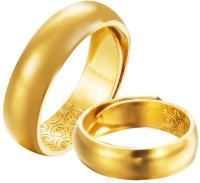1Pcs Golden Color -Plated Open Glossy Men's Golden Color Ring Fashion Jewellery