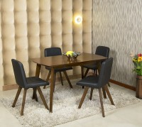 Parin Engineered Wood 4 Seater Dining Set(Finish Color - Brown)