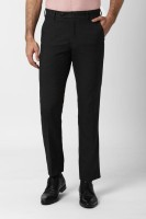 Peter England Slim Fit Men Black Trousers