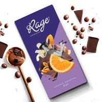 Rage Fruity Bar, Orange Ganache Chocolate Bar 90 gm Bars(90 g)