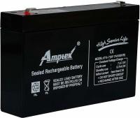 AMPTEK 6V 7AH RECHARGEABLE VRLA SMF BATTERY FOR TOYS & ROBOTIC PROJECTS AGM Solar Battery(6 V)