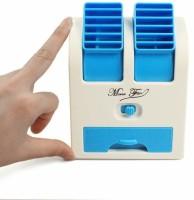 SHOP STOREFRONT 50 L Room/Personal Air Cooler(Green, Mini Water Air Plastic Cooler Portable Desktop Dual Blade Less Fan (Blue))