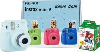 FUJIFILM Instax Mini 9 Value Cam (Ice Blue) with 20 Film Shot Instant Camera(Blue)