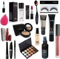 Pluto combo - kit set of 15 ( Liner , mascara , kajal , lipstick , infallible , conceller )(17 Items in the set)