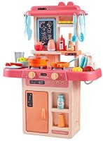 Pepiottoz 36-Piece Kitchen Set, Music,Real Water Tap, Actually Feel of Kitchen for Your Kids