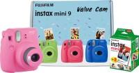 FUJIFILM Instax Mini 9 Value Cam (Flamingo Pink) with 20 Film Shot Instant Camera(Pink)
