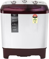 MarQ By Flipkart 6 kg 5 Star Rating Semi Automatic Top Load White, Maroon(MQSA60H5M)