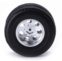 RC Car Toys Aluminum Front/Rear Truck Double Wheels Tire for 1/14 Tamiya