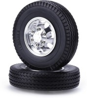 2pcs RC Car Toys Front Wheel Truck Tire for 1/14 Tamiya Climbing Trailer
