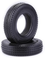 RC Car Toy 2pcs 1/14 Rubber Trailer Car Tyres for Tamiya Tractor Truck