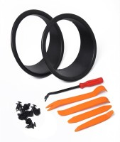 1 Pair Bird Headlight Trim Cover Bezels with Tools for Wrangler JK 07-17