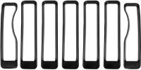 7pcs/set Front Grille Inserts for Jeep Wrangler JL 2018 Accessories (Black)