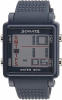 Sonata 77043PP02 Super Fibre Digital Watch For Men