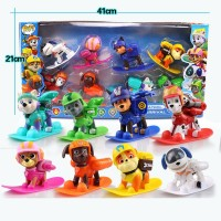 AncientKart Power Puppies Winter Rescue Push Button Action Figures Functioning Big High Quality Set of 8(Multicolor)
