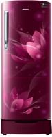 Samsung 192 L Direct Cool Single Door 2 Star (2020) Refrigerator with Base Drawer(Saffron Red, RR19T282BR8/NL)