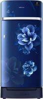 SAMSUNG 198 L Direct Cool Single Door 4 Star Refrigerator with Base Drawer(Camellia Blue, RR21T2H2XCU/HL)