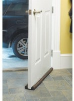 Mantavya Twin Draft Special for Safty Twin Door Draft Guard. Stop Unwanted Light and Stop Escaping of Cool air from air Conditioner Split Or Window Door Mounted Door Stopper(Brown)