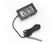 IBOTECH BestPrice Mini LCD Digital Thermometer Sensor Wired for Room temperaure/fridges/Indoor/Outdoor Portable Pocket LCD Electronic Temperature Meter All-in-One Digital Moisture Measurer(40 mm)