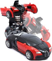 kidz Radio Remote Controlled Rechargeable 1 Button Deformation Car to Robot Converting Toy Car