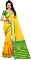 Yashika Solid Fashion Cotton Silk Saree(Green)