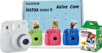 FUJIFILM Instax Mini 9 Value Cam (Smoky White) with 20 Film shot Instant Camera(White)