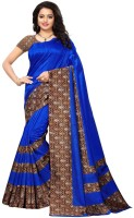 Saara Printed Fashion Poly Silk Saree(Blue)