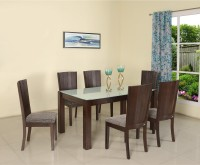 Nilkamal Brighton Solid Wood 6 Seater Dining Set(Finish Color - Expresso)
