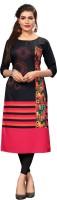 DSK STUDIO Women Printed, Striped Straight Kurta(Multicolor)