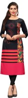 New Ethnic 4 You Women Printed Straight Kurta(Multicolor)