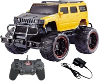 MOUSETRAPS RC Hummer Monster Truck Remote Control 1:20 Scale Electric Vehicle Off-Road Race Car with Oversize Tires Radio SUV RTR Beast Buggy Great Toy Gift for Boys Children(Yellow)
