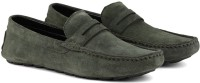 LOUIS STITCH Demesure Unerobe Finest Quality Suede Moccasins Loafers for Men Ultra Comfortable Stylish and Robust Loafers For Men(Green)