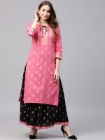 Brite Tailors Women Kurta and Skirt Set
