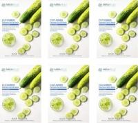 Mirabelle Cosmetics KoreaCUCUMBER FAIRNESS FACIAL MASK PACK OF 6| 25 ml