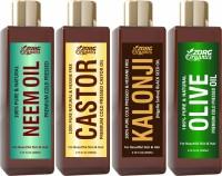 Zorg Organics Combo of Neem, Castor, Kalonji + Olive Oil Herbal Hair Oil(800 ml)