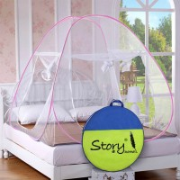Story@Home Polyester Adults Mosquito Net Mosquito Net(Pink)