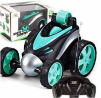 kdsn Mini RC Stunt Car Radio Electric Drift Rotating Wheel Vehicle Truck (Blue) Remote Control Toy for Boy, Girl (Green) (Multicolor)