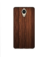 Casotec Wooden Texture Design Printed Silicon Soft TPU Back Case Cover for Panasonic Eluga Ray Max