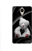 Casotec White Teddy Bear Design Printed Silicon Soft TPU Back Case Cover for Panasonic Eluga Ray Max