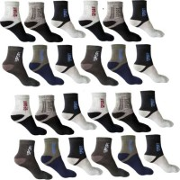 KAMINI Men Color Block Ankle Length(Pack of 12)