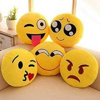 Supreme Home Collective Microfibre Smiley Cushion Pack of 5