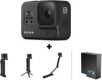 GoPro Hero8 Black with 3 Way Grip and Battery Sports and Action Camera(Black, 12 MP)