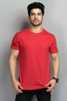 BELTLY Solid Men Round Neck Red T-Shirt