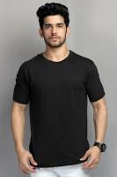 BELTLY Solid Men Round Neck Black T-Shirt