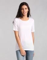GAP Casual Half Sleeve Self Design Women White Top