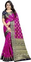 Perfect Wear Self Design Banarasi Cotton Silk Saree(Pink)