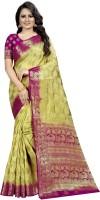 Perfect Wear Self Design Banarasi Cotton Silk Saree(Beige)
