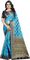 Perfect Wear Self Design Banarasi Cotton Silk Saree(Multicolor)