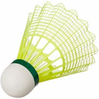 Yonex MAVIS 350 - Green Cap Nylon Shuttle - Yellow (Slow, 75, Pack of 6) Nylon Shuttle  - Yellow(Slow, 75, Pack of 6)
