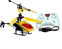 Trade Globe Exceed Induction Flight Electronic Radio RC Remote Control Toy Charging Helicopter with 3D Light Toys for Boys Kids (Indoor Flying)(Yellow)